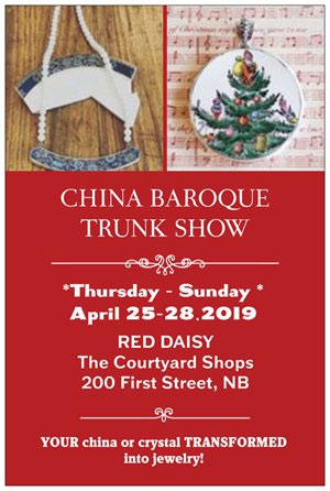 Red Daisy welcomes Christie Gunter of CHINA BAROQUE!