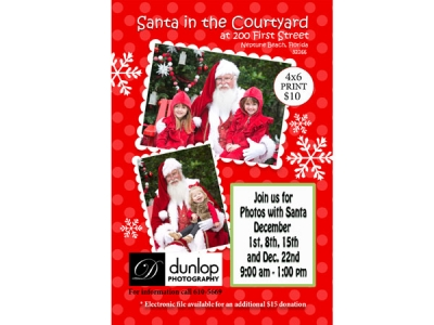 Santa Claus in the Courtyard